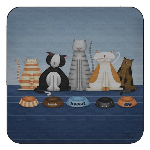 plymouth-pottery-hungry-cats-sottobicchieri-set-di-6