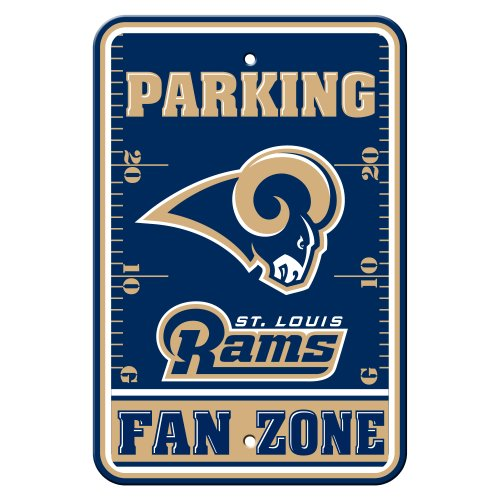 Die Fremont 92262 Plastic Parking Sign-St. Louis Rams (St Louis Rams Jersey)