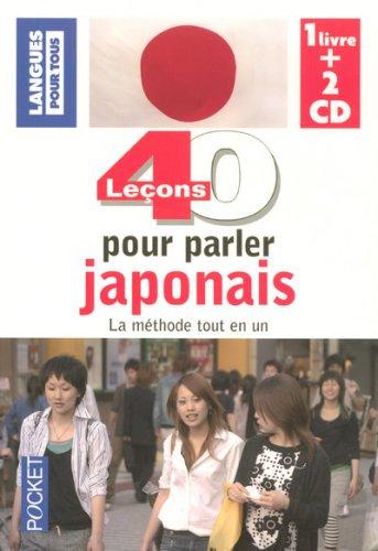 COFFRET 40 LECONS POUR PARLER JAPONAIS LIVRE + 2 CD AUDIO (ancienne édition)