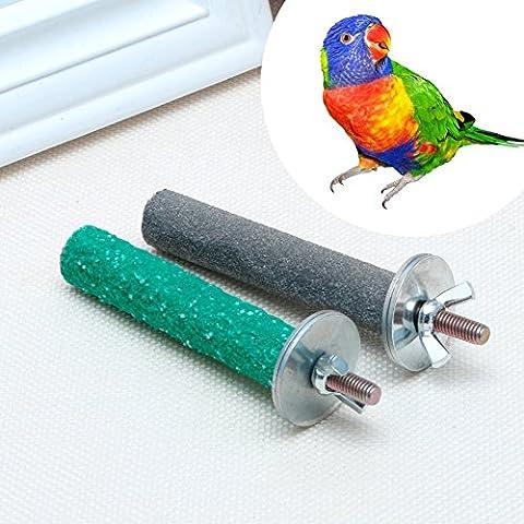 Dairyshop coloré pour animal domestique Oiseau Bite Patte de jouets à mâcher meulage support perches Cage Perroquet perruche