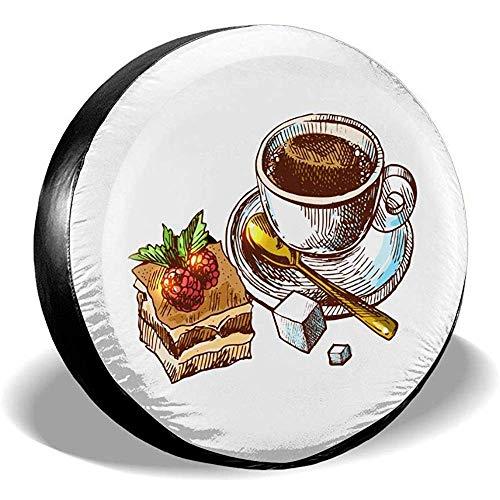 Hiram Cotton Spare Tire Cover Snack al caffè Ruota di Scorta Copertura Pneumatici Fuoristrada velocità Estrema Overdrive Univers