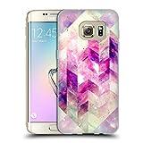 Head Case Designs Offizielle Barruf Abstrakt Geometrisch Rosa Galaxie Soft Gel Hülle für Samsung Galaxy S7 Edge
