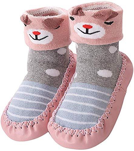 YUHUAWYH Bebé Muchachos Chicas Invierno Calzado antideslizante Calcetines Zapatos niños interiores...