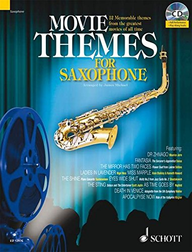 Movie Themes for Tenor Saxophone: 12 unvergessliche Melodien aus den größten Filmen aller Zeiten. Tenor-Saxophon. Ausgabe mit CD.: 12 Memorable Themes ... of All Time (Schott Master Play-Along Series)