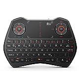 Rii K28C 2.4GHz Mini Wireless Tastatur und Touchpad-Maus,LED Hintergrundbeleuchtung, Eingebaute Wiederaufladbare Li-ion Batterie und Komfort Deckel für Smart TV, Raspberry Pi,Mini PC, HTPC, Computer und Konsolenspiele MacOS,Linux, Android,XBMC,Windows 2000 XP Vista 7 8(Rii Mini ONE i28C)