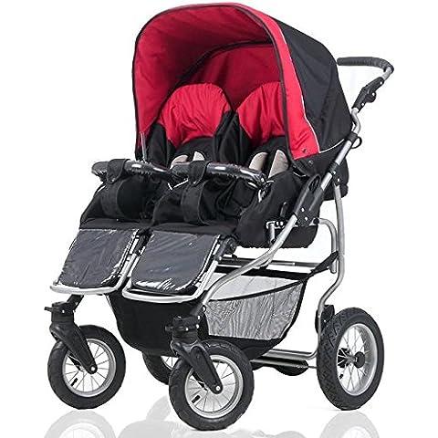 Carrello Twin Bebè Confort bambini di diverse età, questo 1 Cesto 2sillas fucsia. Duet accesorios.: Nero
