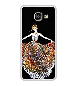 Girl with Colourful Dress 2D Hard Polycarbonate Designer Back Case Cover for Samsung Galaxy A3 (2016) :: Samsung Galaxy A3 2016 Duos :: Samsung Galaxy A3 2016 A310F A310M A310Y :: Samsung Galaxy A3 A310 2016 Edition