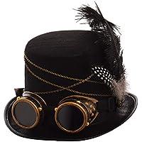 GRACEART Steampunk hacia parte superior sombreros con google (varios estilos ) 201376b4cee