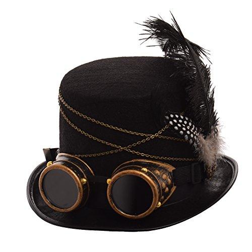 GRACEART Gótico Steampunk Parte Superior Sombrero (Mujer)