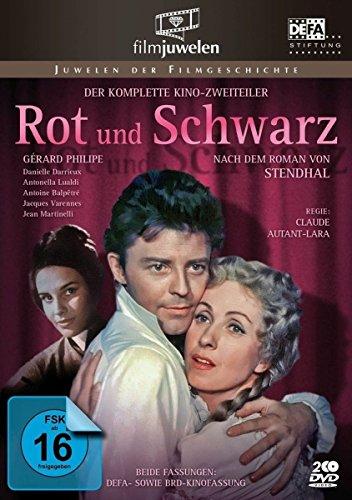 Bild von Rot und Schwarz - Der komplette Kino-Zweiteiler mit Gérard Philipe (DDR-Fassung plus BRD-Kinofassung) - Filmjuwelen [3 DVDs]