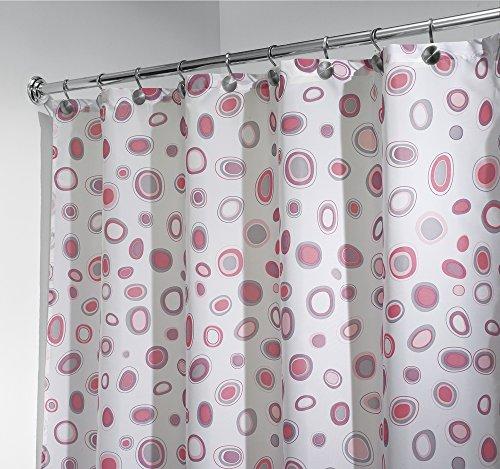 mDesign Duschvorhang anti-Schimmel - 180 cm x 180 cm - gemusterter Dusch- & Badewannenvorhang - Duschvorhang wasserabweisend - 12 verstärkte Metallösen für einfache Aufhängung
