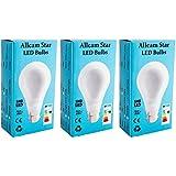 3 pack Allcam Star 7W Bayonet LED Bulb GLS B22 LED Lights, Ultra Bright 600 Lumen, 6500K Daylight White, 360° Beam Angle, replaces old 60-70W Globe Bulbs