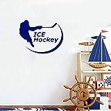 shiyueNB Sport Eishockey Torwart Wandtattoo Jungenzimmer Modernes Spielzimmer Interieur Abnehmbares Spiel Interieur AR 55x42cm