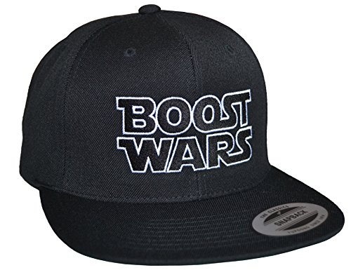 Petrolhead Industries: Boost Wars - Cap für alle Tuning-, Drift-, und Motorsport Fans - Classic Snapback von Flexfit (One size Black)