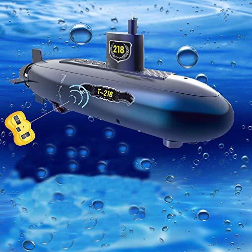 -Spielzeug RC Speed Racing Boote Outdoor Adventure Pigboat Modell U-Boot Fernbedienung Boot DIY Spielzeug Geschenk Bildung Puzzle, Blau ()