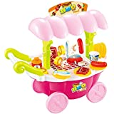 DanyBaby Colorful Toy Grills Mini BBQ Cart Pretend Toy Foods Play Set For Kids