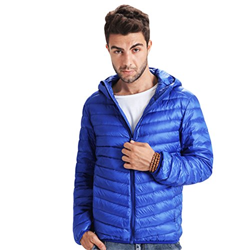 Meijunter Homme Poids léger Chaud Doux Svelte Canard Sous-Vêtement Parka Coats blue