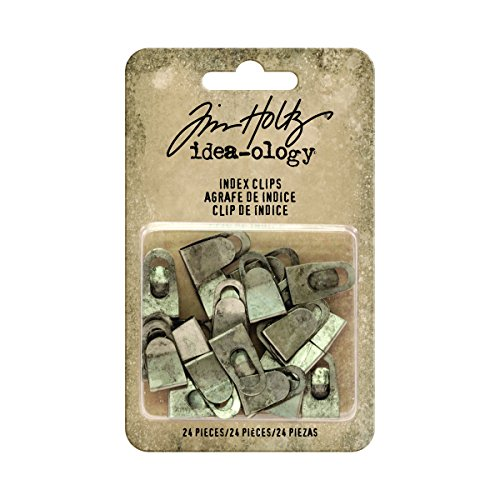 Tim Holtz Index Clips, Grau (Paper Scrapbook Clips)