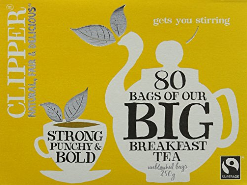 Clipper Fairtrade Big Breakfast 80 Teabags (pack of 6)