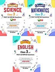 Olympiad Champs Science, Mathematics, English Class 3 with Past Questions 4th Edition (set of 3 books)