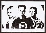 Poster The Big Bang Theory Sheldon Penny E Leonard Handmade Graffiti Street Art - Artwork