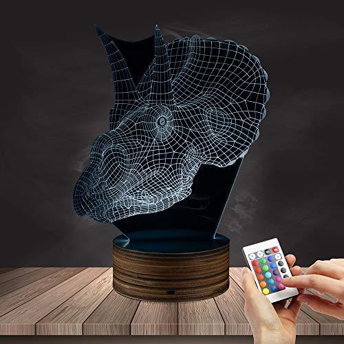 ZCLD Gothic Dragon Skull 3D Optische Täuschung Nachtlicht Dragon Head LED-Licht Schreibtischlampe Goth Beleuchtung Dekoration Drachen Geschenk Geburtstag Weihnachten ()