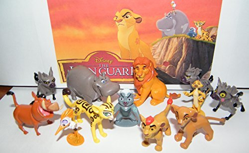 Disney The Lion Guard Deluxe Party Favors Goody Bag Fillers Set of 13 Figures with the 5 Lion Guard Figures, Princess Kiara, King Simba, Pumon, Simon and More! by Lion Guard (Princess Party-goody Bags)