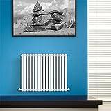 BestBathrooms Design-Heizkörper Horizontal Weiß - 600 x 1000 mm - Premium Paneelheizkörper für Zentralheizung - Einlagig - Perfekt für Küche, Bad & Wohnzi mmer