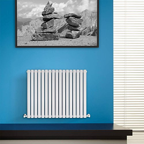 BestBathrooms - Radiateur Horizontal Blanc Chauffage Central 60 x 100cm 748W
