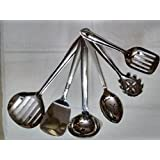 KANTHI Stainless Steel 6 Pcs Cooking/Serving Spoon Set