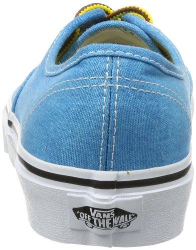Vans  U AUTHENTIC  (WASHED) BLACK, basket mixte adulte Bleu (Washed)