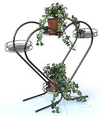 Idea Regalo - Scala per fiori a cuore Art.81 Porta-fiori Colonna di fiori 64cm Scaffale porta-piante