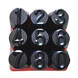 #10: Baoblaze 3mm/4mm/5mm/6mm/10mm/12.5mm Stamps Letters Alphabet Numbers Set Punch Steel Metal Tool Craft - Number 5mm