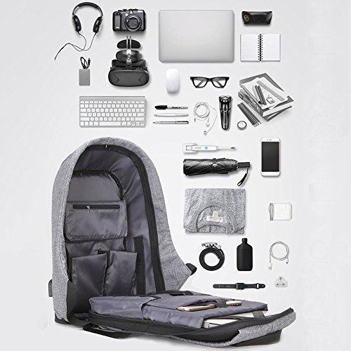 Salon Styler Haarbürsten großes Fassungsvermögen Laptop Rucksäcke PC BAG TRAVEL RUCKSACK Diebstahlschutz mit USB Lade-Schnittstelle Blau