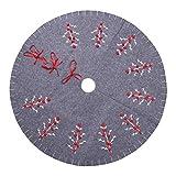 BESTOYARD Bestyard Weihnachtsbaum-Rock aus Filz, rund, niedlich, rote Schleife, Weihnachtsbaum, Rock, Teppich, Weihnachtsdekoration, 120 cm