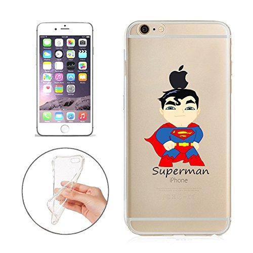 Batman, Catwoman, Joker, Harley Quinn, Iron Man, Captain America, Spider Man, The Hulk, Thor, Deadpool Jelly Clear Case für Apple iPhone 6/iPhone 6S (11,9cm), Superman