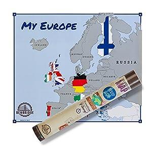 scratchable Map Europe Flags | versión Banderas | L 'única Mapa de rascar Made in Italy | Mapa de Europa de Rascar | viaggia y gratta Via los Estados Che Hai visitato personalizzando la tua Mapa.