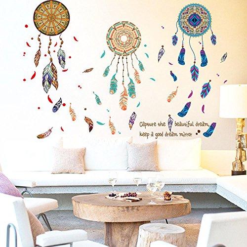 Pegatina Vinilo Atrapasueños decoracion paredes o cristal habitaciones boutiques, salones comedores, probadores, aticos, caravanas,colegios 90 x 60 cm de CHIPYHOME