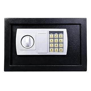 Digitaler Geldkassette aus Stahl mit Ersatzschlüsseln für Wohnheim, Büro, Zuhause, Spardose zur Wandmontage