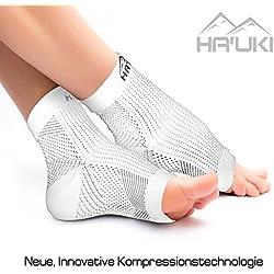 Fußbandage für optimale Kompression beim Sport, Laufen oder Unterstützung bei Plantar Fasciitis, Fersensporn – 1 Paar Kompressionssocken / Kompressionsstrümpfe für Damen und Herren