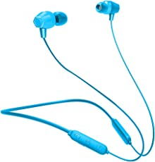 Skyward Ecommerce Bluetooth Headphones, Wireless Neckband Headset, IPX5 Waterproof Sport in-Ear Headphones, Stereo Magnetic Earbuds, Noise Cancelling, 10 Hours Playtime - Blue