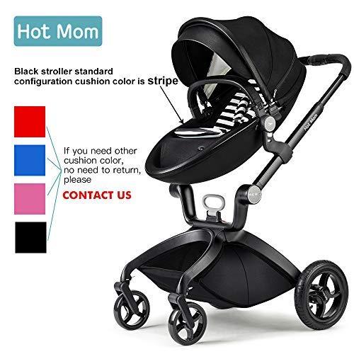 Hot Mom des limitée Version Poussette 2018, 3 en 1 bébé Poussette Système de voyage avec berceau, Noir image0