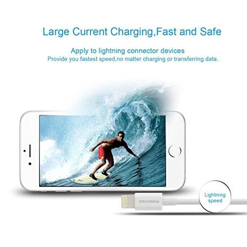 Poweradd Cable Apple 8 Pin a USB Cable de Carga y Sincronización