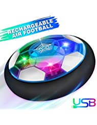 Growsland Kids Toys Hover Soccer Ball Gift Boys Girls Age 3,4,5,6,7,8,9-12 Year Old Rechargeable Air Power Football Sport Ball Game Colorful LED Light & Foam Bumpers Indoor Outdoor Air Soccer Disk Toy