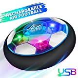 Image for board game Growsland Kids Toys Hover Soccer Ball Gift Boys Girls Age 3,4,5,6,7,8,9-12 Year Old Rechargeable Air Power Football Sport Ball Game Colorful LED Light & Foam Bumpers Indoor Outdoor Air Soccer Disk Toy