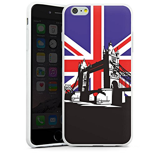 Apple iPhone X Silikon Hülle Case Schutzhülle London Großbritannien Tower Bridge Silikon Case weiß