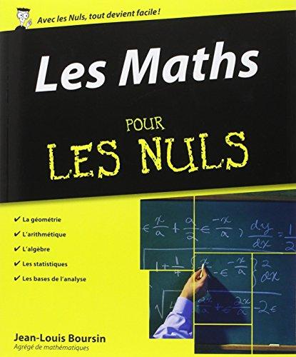 Les Maths pour les Nuls par Jean-Louis Boursin