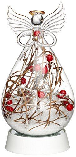 'Konstsmide 3388 - 000 LED crystal figure' Angel, transparent, large / for indoor (IP20) / timer / 4 white diodes, works with batteries: 3 x AA 1,5 V (Not Included.)