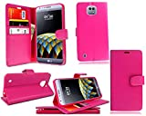 LG X Cam K580 - New Pink Leather Flip Wallet Stand Book