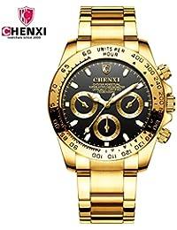 HWCOO Orologi 2018 orologio cross-board IP placcatura oro orologio da uomo  impermeabile da uomo ddced2693c4